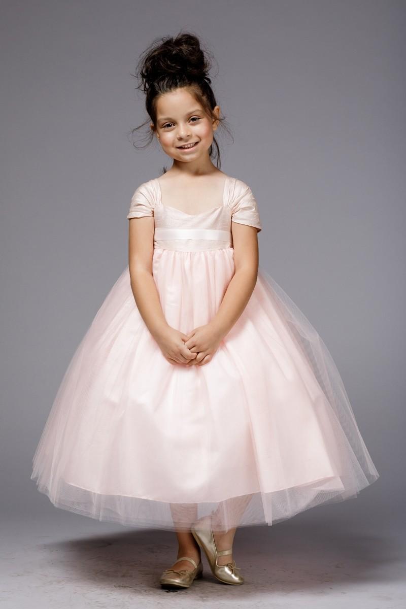 205e015b8b Pink Tulle Flower Girl Dresses – Petite Adele