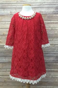 Sammy Dress-Red