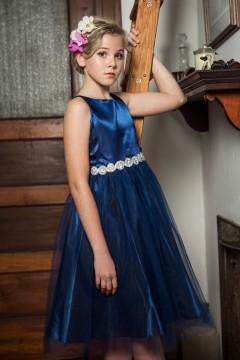 Abigail Dress in Navy Blue