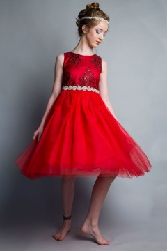 Janet Dress_red