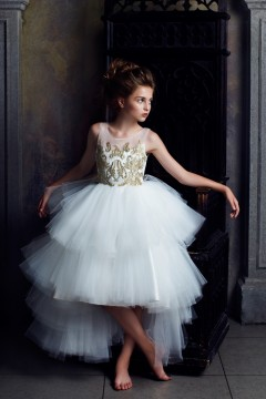 Abella Dress Ivory/Gold