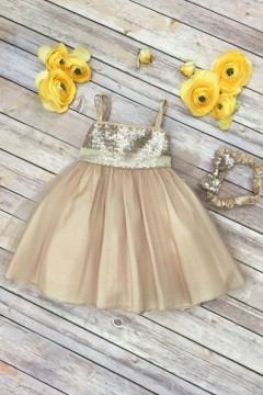 Adele Baby Dress-Champagne