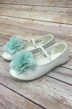 Ballet Flats with Chiffon Flower