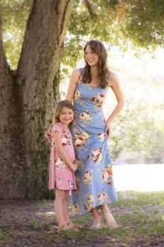 Chic Floral Mom and Me Matching Dresses