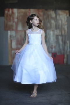 Aurora Dress-White