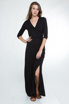 Long maxi dress with sleeves