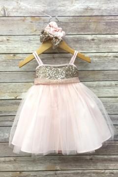 Adele Baby Dress-Blush