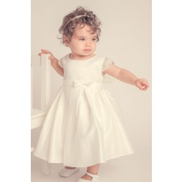 Elsie's Baby Dress-Ivory