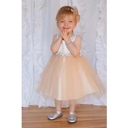 Baby Abigail Dress-Champagne