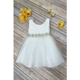 Baby Abigail Dress-Ivory
